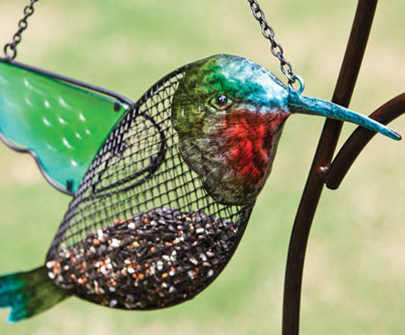 colorful contemporary bird feeder