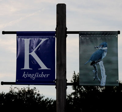 sign for kingfishers