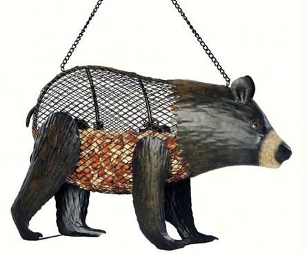 bear shaped bird feeder