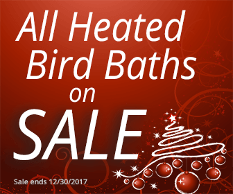 All heated bird baths on sale!