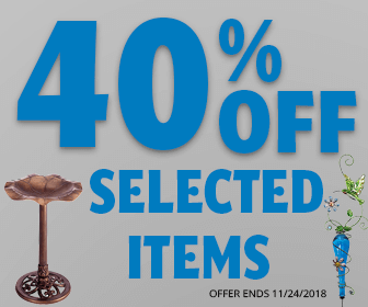 Save 40% on Select Items at WildAboutBirds.com!